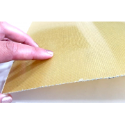 Single-sided kevlar fiber plate with epoxy resin - 600 x 400 x 1 mm.