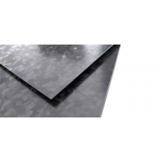Placa de fibra de carbono de dois lados BRILHO acabamento Marble-Forged - 500 x 400 x 2 mm.