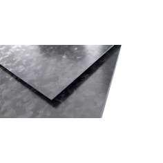 Plancha de fibra de carbono dos caras MATE acabado Marble-Forged - 400 x 250 x 3 mm.