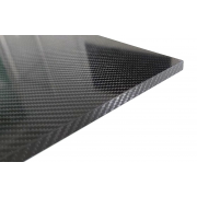 Closed-edge carbon fiber sandwich plate with inner core - 400 x 250 x 11 mm.