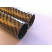 Commercial sample of carbon-kevlar fiber tube