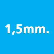 Thickness 1,5mm.