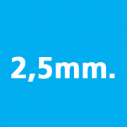 Thickness 2,5mm.